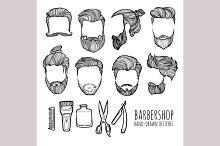 Man hairstyle. Barbershop.