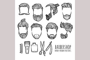 Man hairstyle. Barbershop.