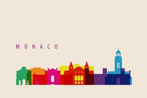 Monaco Skyline Illustration