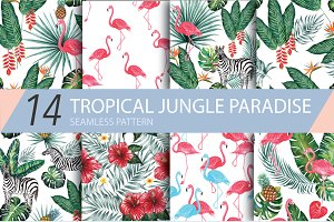 Tropical Jungle Paradise Patterns