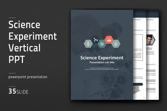 science experiment vertical ppt presentation templates creative