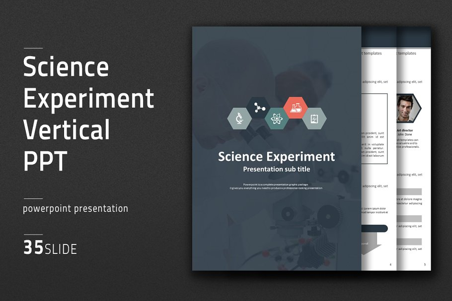 Science Experiment Vertical PPT in PowerPoint Templates - product preview 8