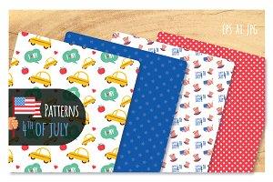 4th of July-8 Patterns set