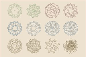 12 Arabic Patterns Vector Set Design