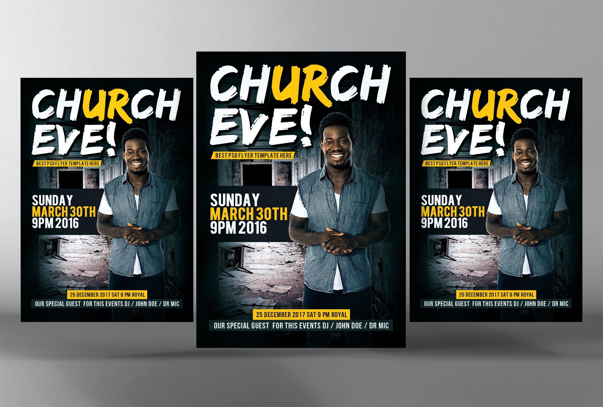modern church flyer template flyer templates on creative market sunday services church flyer psd