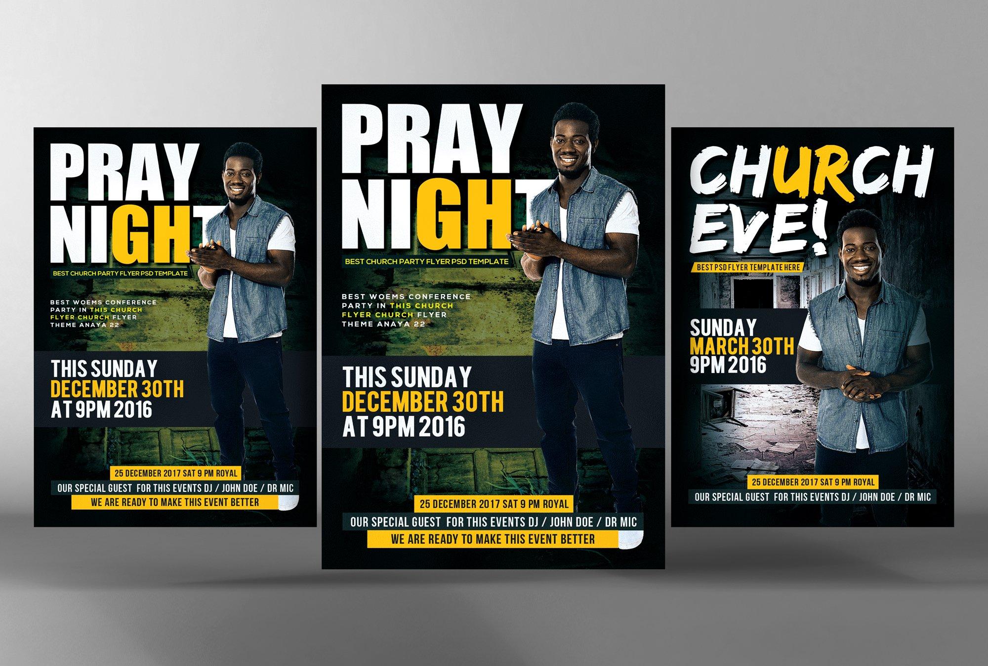 prayer night church flyer psd flyer templates on creative market