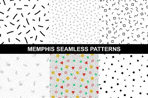 Memphis style - geometric patterns.