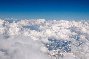Clouds on Alps