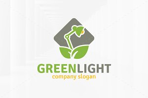 Green Light Logo Template