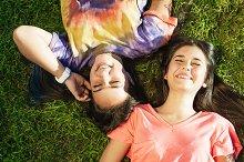 Beautiful Teen Friends in Park.