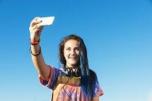 Teenage Girl Using Mobile.
