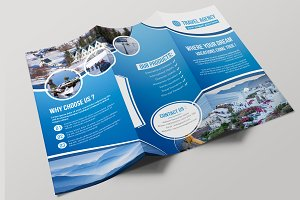 travel trifold brochure brochure templates creative market
