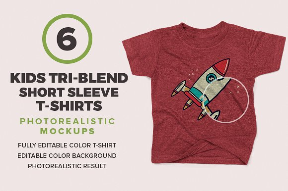 Kids Tri-Blend Short Sleeve Mockups