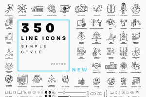 +350 Line Business Icons Collection