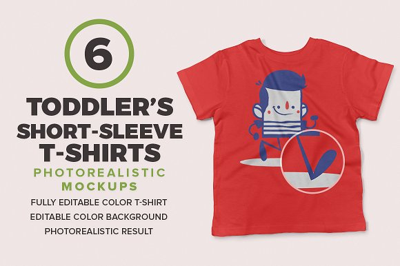 Download Toddler's Short-Sleeve Mockups