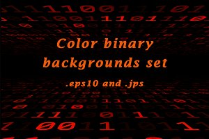 Color binary backgrounds, set of 9