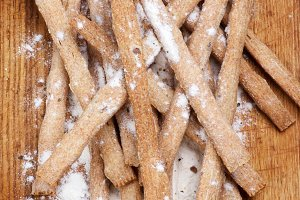 Freshly Baked Bread Sticks