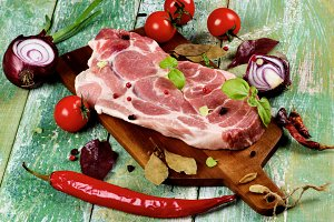 Raw Pork Neck
