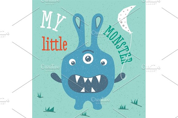Monster illustration in baby style