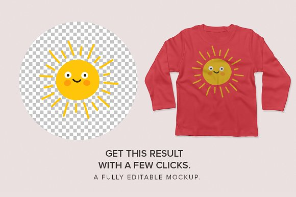 Baby Toddler's Long Sleeve Mockups in Product Mockups - product preview 1