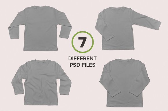Baby Toddler's Long Sleeve Mockups in Product Mockups - product preview 5