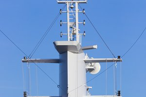 Tower or mast on cruise ship