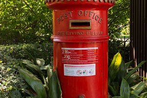 Old red pillar box in Melbourne
