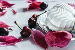 Marshmallows & cherries