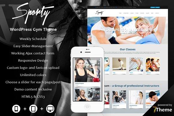 Sporty - WordPress Gym Theme