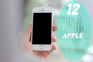 12 Real Photo Apple Mock-ups Vol. 2