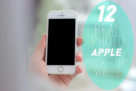 12 Real Photo Apple Mock-ups Vol. 2 - Product Mockups