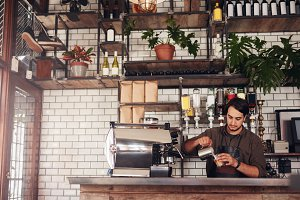 Young male barista