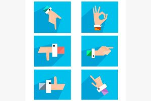 Hands showing symbolic icons