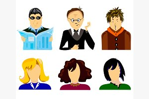 Set people vector