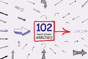 102 Hand drawn arrows.