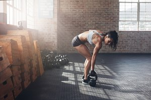 Woman about to start her fitness