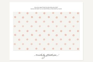 Watercolor Polka Dot webtile &...