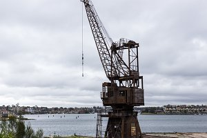 Iron crane and dry dock Sydney