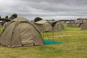 Tents for tourists Cockatoo Island