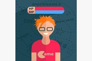 Gamer boy character