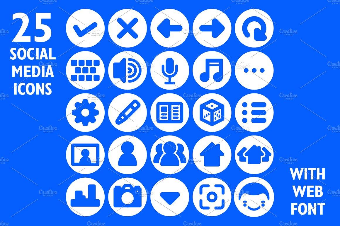 Social Media App Icon Set Web Font Symbol Fonts Creative Market
