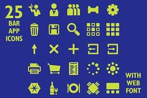 Restaurant App Icon Set & Web Font