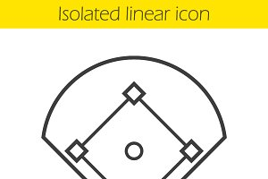Baseball field icon. Vector