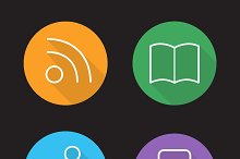 Web browser interface icons. Vector