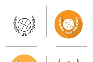 Basketball ball icon. Vector