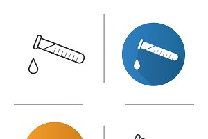 Chemical experiment icons. Vector