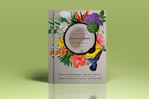 Premium Exotic Flower Wedding Invite