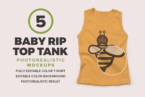 Baby Rip Top Tank Mockups