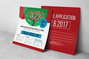 Social Media App Post Card