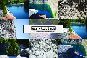224 High Quality Cliff/Quarry, water